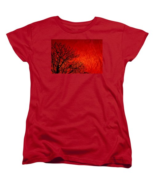 Red Storm Women's T-Shirt (Standard Cut) by Charuhas Images