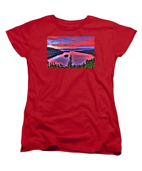 Red Tahoe Women's T-Shirt (Standard Cut) by Scott Mahon