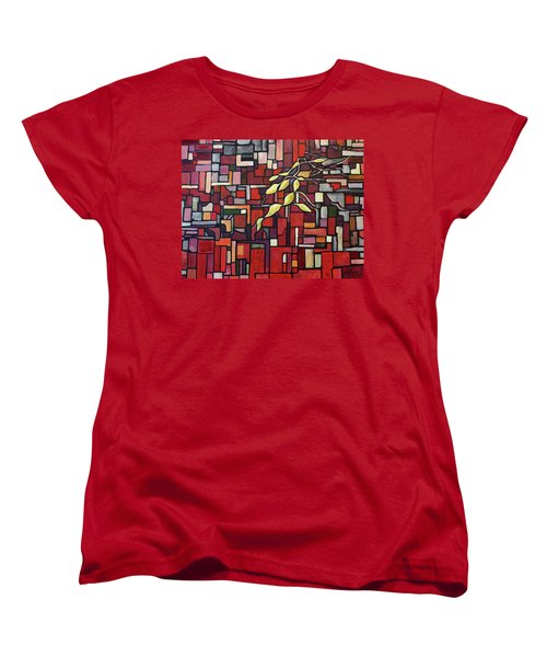 Women's T-Shirt (Standard Cut) featuring the painting Red Tango by Joanne Smoley