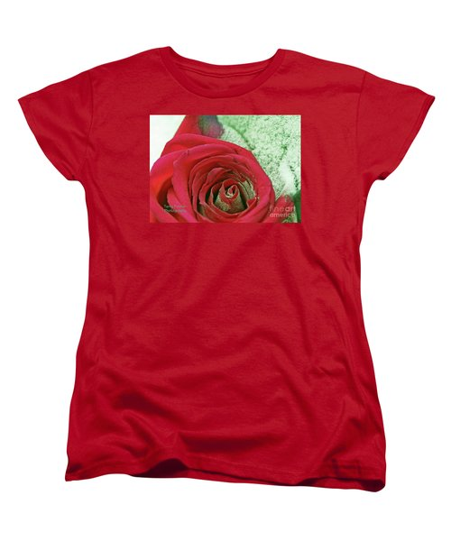 Women's T-Shirt (Standard Cut) featuring the digital art Red by Terry Foster