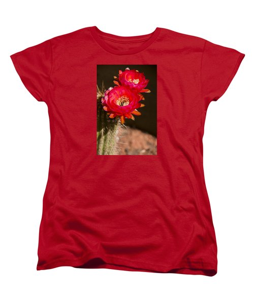 Red Tops Women's T-Shirt (Standard Cut) by Laura Pratt