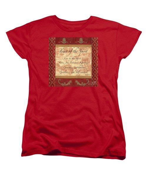 Red Traditional Fruit Of The Spirit Women's T-Shirt (Standard Cut)