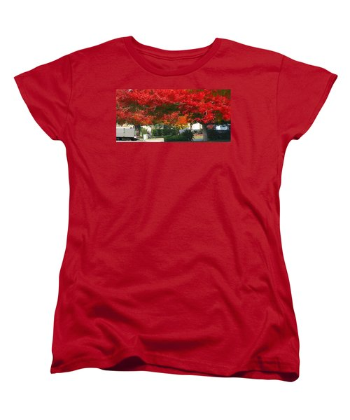 Red Trees Women's T-Shirt (Standard Cut)