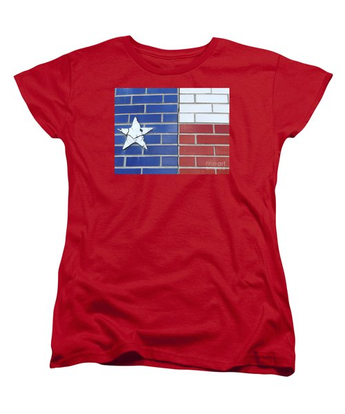 Red White Blue With Star Women's T-Shirt (Standard Cut) by Erick Schmidt
