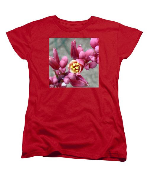 Red Yucca Macro Women's T-Shirt (Standard Cut) by Russell Keating