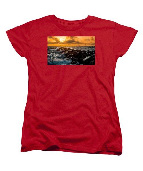 Redondo Beach Sunset Women's T-Shirt (Standard Cut) by Ed Clark