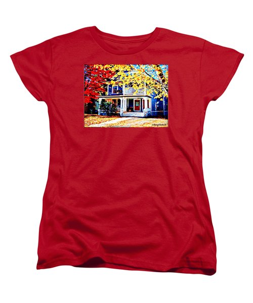 Reds And Yellows Women's T-Shirt (Standard Cut) by MaryLee Parker