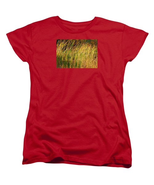 Reeds Women's T-Shirt (Standard Cut) by Susan Crossman Buscho