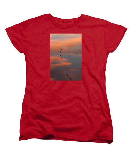 Women's T-Shirt (Standard Cut) featuring the photograph Reflected Sunrise by Monte Stevens