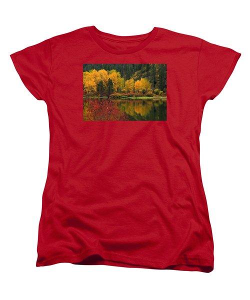 Reflections Of Fall Beauty Women's T-Shirt (Standard Cut)
