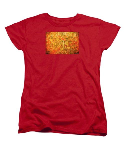 Reflections Of Fall Women's T-Shirt (Standard Cut) by Rick Furmanek
