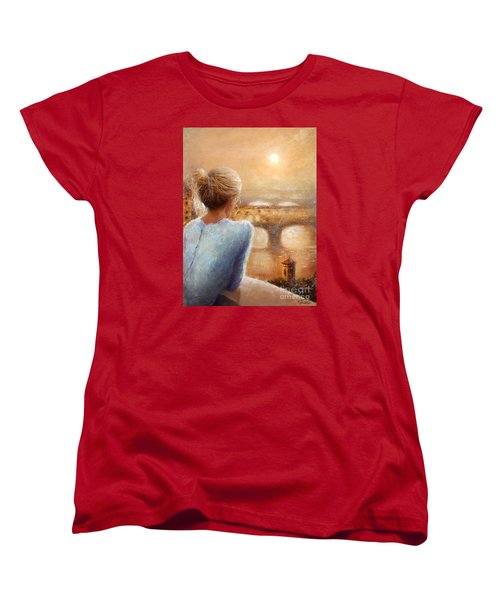 Women's T-Shirt (Standard Cut) featuring the painting Reflections Of Florence by Michael Rock