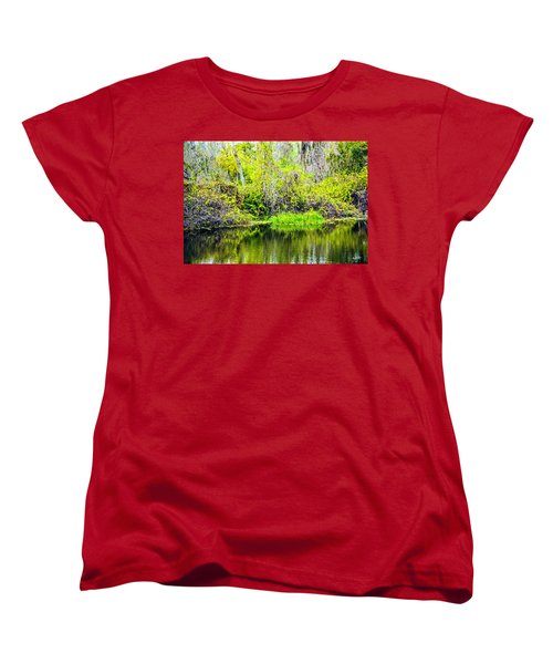 Women's T-Shirt (Standard Cut) featuring the photograph Reflections On A Beautiful Day by Madeline Ellis