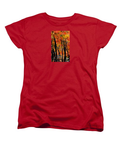 Women's T-Shirt (Standard Cut) featuring the photograph Reflections On Infinity by Angela Davies