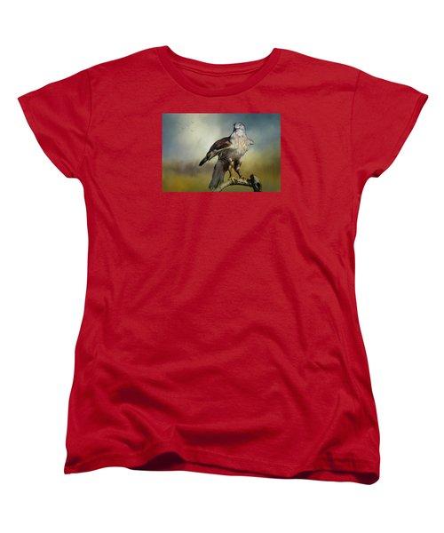 Regal Bird Women's T-Shirt (Standard Cut) by Barbara Manis