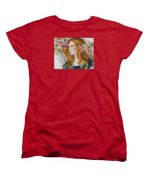 Women's T-Shirt (Standard Cut) featuring the painting Renaissance Woman by P Maure Bausch