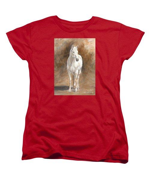 Retired Thoroughbred Race Horse Rustic Women's T-Shirt (Standard Cut)