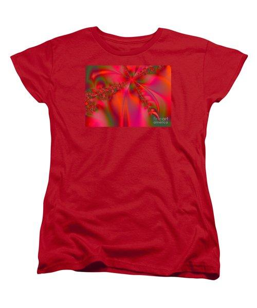 Rhapsody In Red Women's T-Shirt (Standard Cut) by Robert ONeil