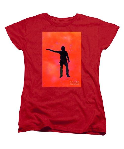 Rick Grimes Women's T-Shirt (Standard Cut) by Justin Moore