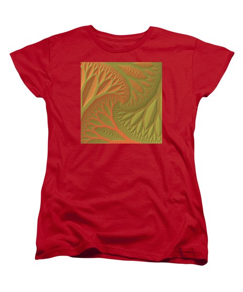 Women's T-Shirt (Standard Cut) featuring the digital art Ridges And Valleys by Lyle Hatch
