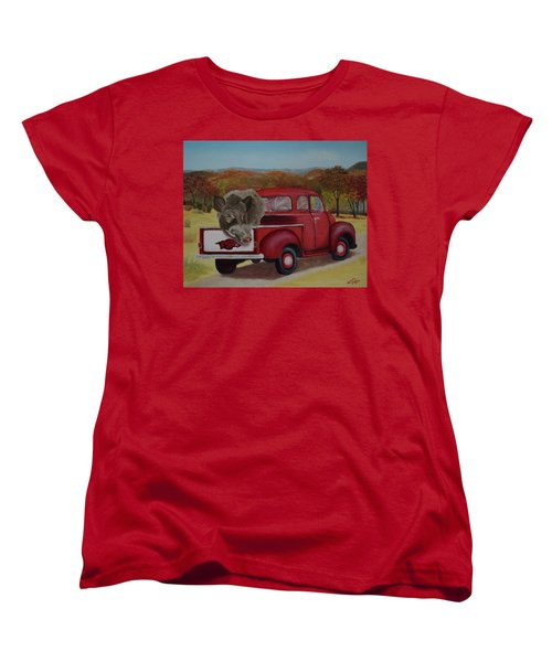 Ridin' With Razorbacks Women's T-Shirt (Standard Cut) by Belinda Nagy