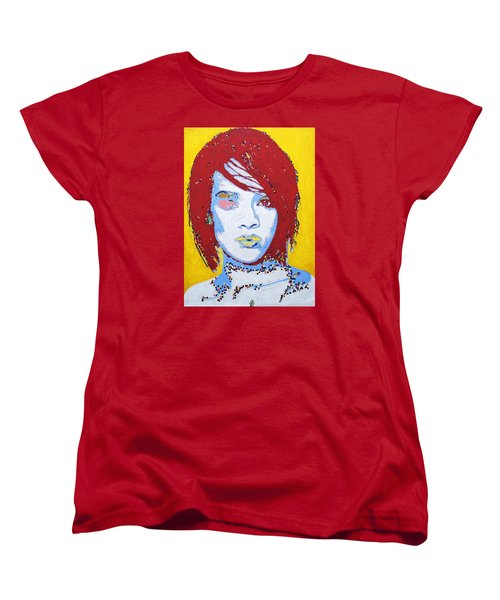 Rihanna  Women's T-Shirt (Standard Cut) by Stormm Bradshaw