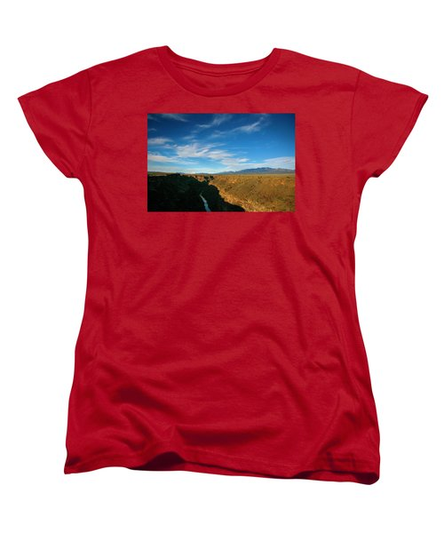 Women's T-Shirt (Standard Cut) featuring the photograph Rio Grande Gorge Nm by Marilyn Hunt