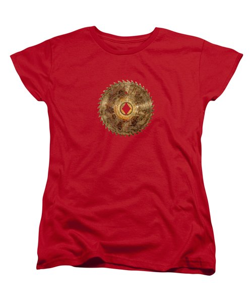 Rip Tooth Sawblade Women's T-Shirt (Standard Cut) by YoPedro