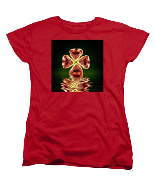 Women's T-Shirt (Standard Cut) featuring the photograph Ripe Juicy Figs Fruit by David French