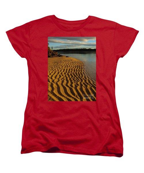 Ripples To The Edge Women's T-Shirt (Standard Cut) by Trena Mara