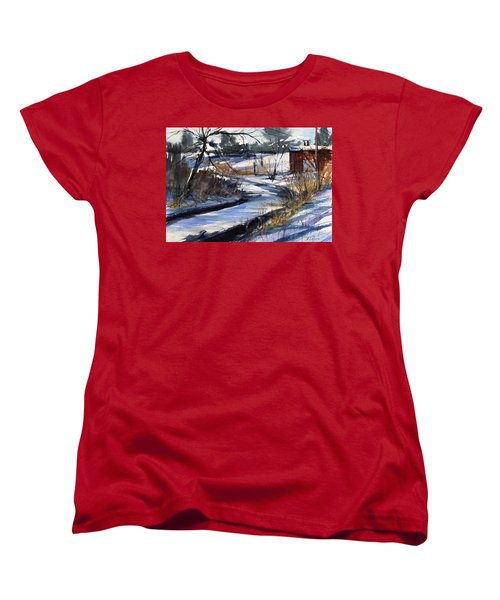 Rippleton Road River Women's T-Shirt (Standard Cut) by Judith Levins