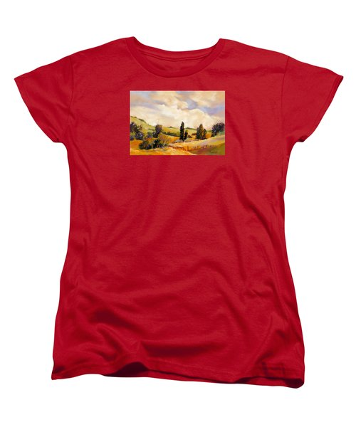 Women's T-Shirt (Standard Cut) featuring the painting Rising Heat by Rae Andrews