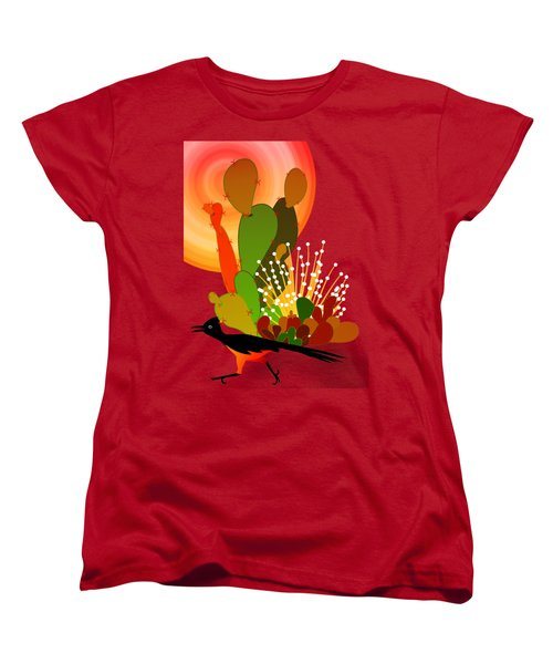 Roadrunner Sunrise Women's T-Shirt (Standard Cut) by Methune Hively