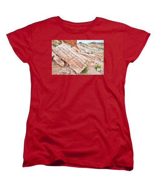 Women's T-Shirt (Standard Cut) featuring the photograph Roadside Sandstone In Valley Of Fire by Ray Mathis
