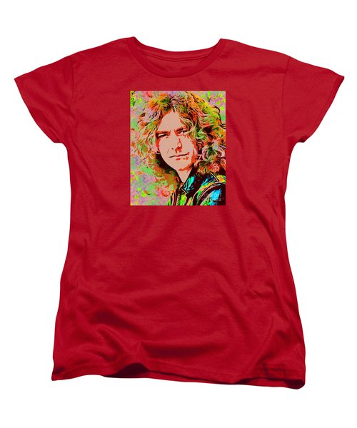 Robert Plant Women's T-Shirt (Standard Cut) by Sergey Lukashin