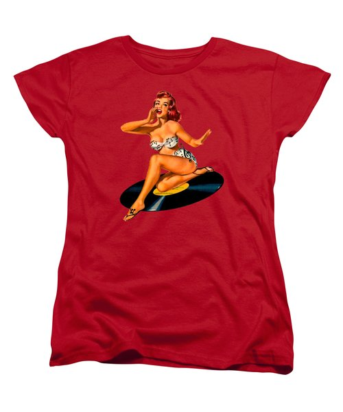Women's T-Shirt (Standard Cut) featuring the digital art Rockabilly Goddess by Sasha Alexandre Keen