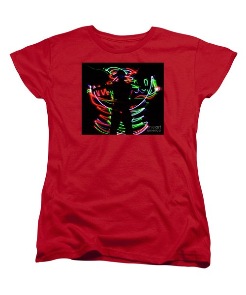 Women's T-Shirt (Standard Cut) featuring the photograph Rockin' In The Dead Of Night by Xn Tyler