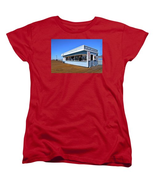 Women's T-Shirt (Standard Cut) featuring the photograph Rod Rental At The Pismo Beach Pier by Floyd Snyder
