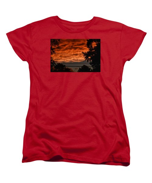 Women's T-Shirt (Standard Cut) featuring the photograph Rolling Skies by Nikki McInnes
