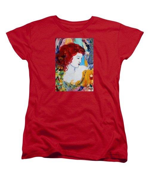 Romantic Read Heaired Woman Women's T-Shirt (Standard Cut)