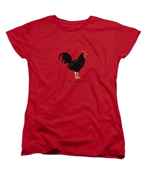 Rooster Women's T-Shirt (Standard Cut) by Valerie Anne Kelly