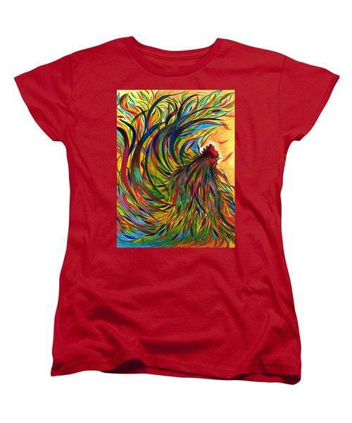 Roosters Frienship Women's T-Shirt (Standard Cut) by Fanny Diaz