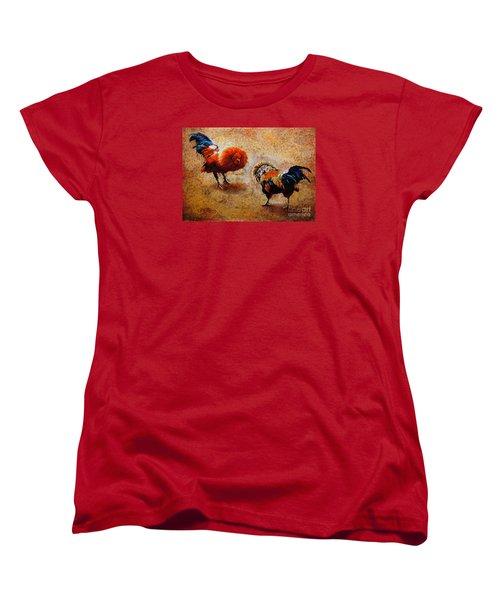 Roosters  Scene Women's T-Shirt (Standard Cut)