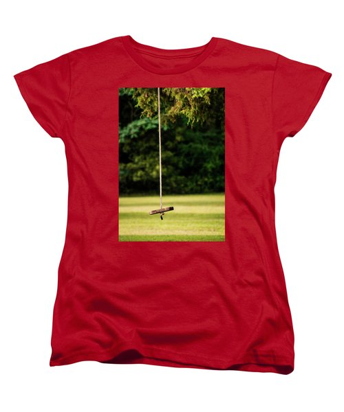 Women's T-Shirt (Standard Cut) featuring the photograph Rope Swing  by Shelby Young