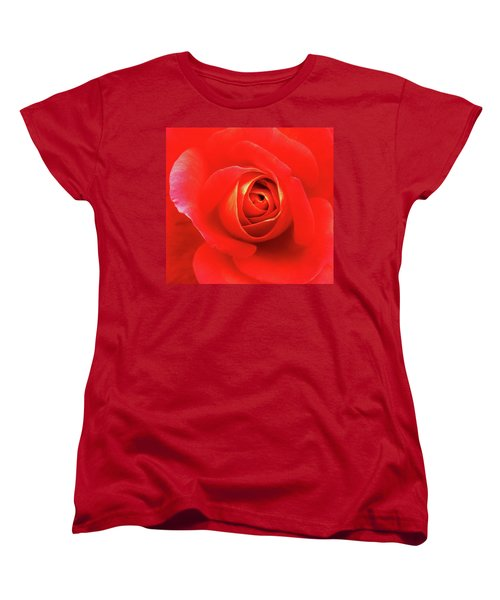 Rose Women's T-Shirt (Standard Cut) by Mary Ellen Frazee