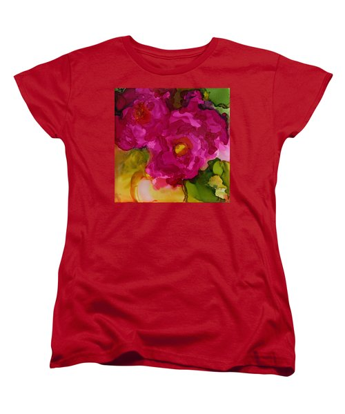 Rose To The Occation Women's T-Shirt (Standard Cut) by Joanne Smoley