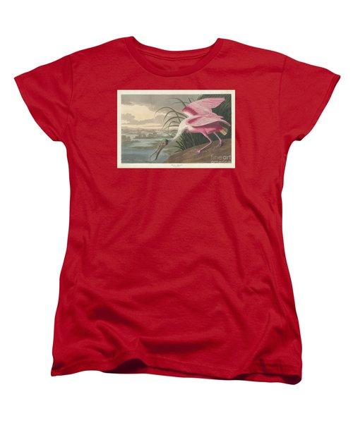 Roseate Spoonbill, 1836  Women's T-Shirt (Standard Cut) by John James Audubon