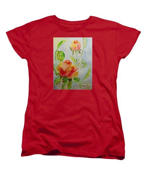 Roses  Women's T-Shirt (Standard Cut) by AmaS Art