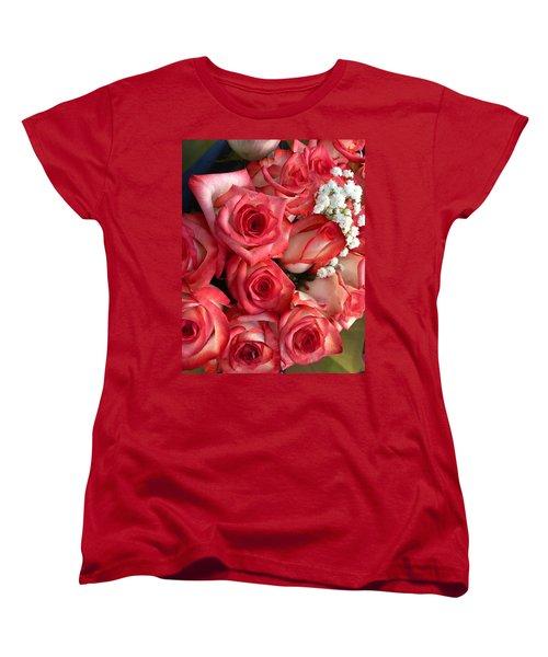 Roses For God Women's T-Shirt (Standard Cut) by Carlos Avila