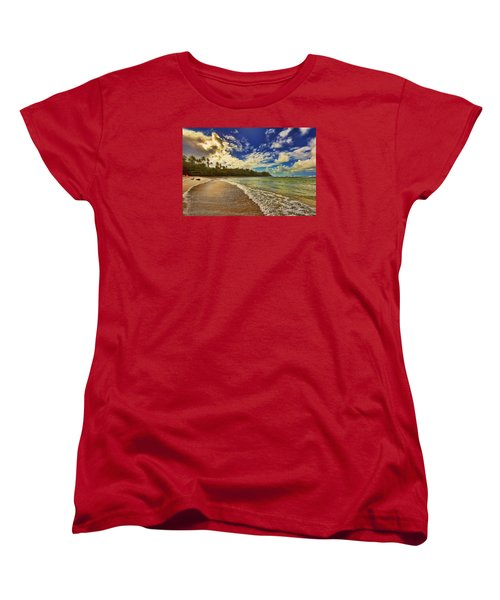 Rough Waters Women's T-Shirt (Standard Cut) by Nadia Sanowar